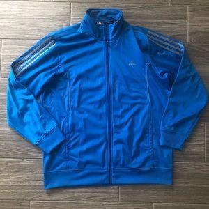 Adidas Blue & Gray ClimaLite Full Zip Jacket